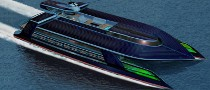 Solar Hybrid Ocean Empire LSV Yacht Presented