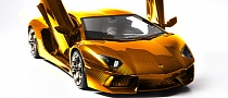 Solid Gold Lamborghini worth $7.5M Previewed in Dubai