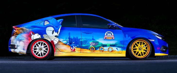 Sonic The Hedgehog Gets Unique Honda Civic As 25th