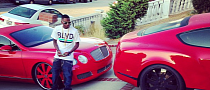 Soulja Boy Going Though a Red Bentley Phase