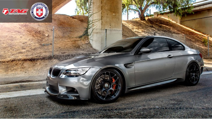 Space Gray BMW E92 M3 from TAG Motorsports Rides on HRE Wheels