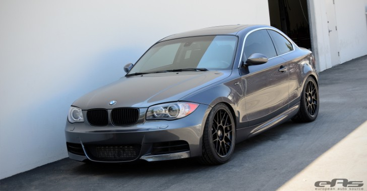 Space Grey BMW E82 135i on Matte Black Apex Wheels