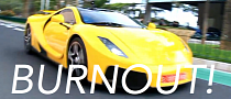 Spanish Supercar Does a Burnout in Monaco [Video]