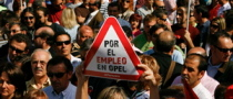 Spanish Opel Workers Protest Against Magna