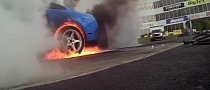 Spectacular Mustang Burnout with Explosion Finale [Video]
