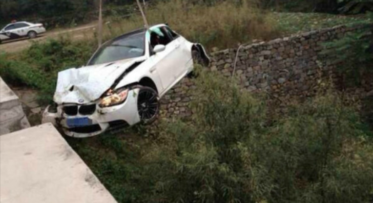 Speeding BMW E92 M3 Flies Off a Bridge in China