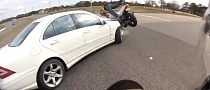 Speeding GSX-R and R1 Both Crash into the Same Car [Video]