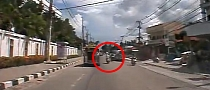 Speeding Thai Scooter Rider Misses Car and Bike by Inches [Video]