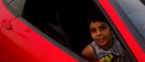 Spoiled Kid Drives a Ferrari [Video]