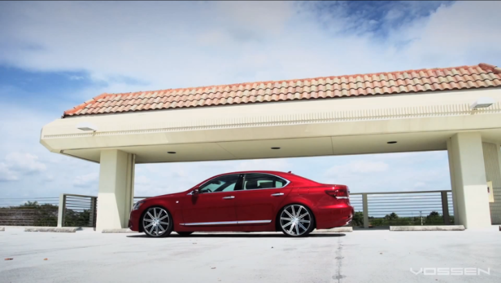 Spotless Lexus LS Gets 22-Inch Vossens [Video][Photo Gallery]