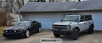 Spotted 2021 Bronco Reveals Ugly Front Plate While Hanging Out With Ford Mustang
