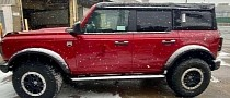 Spotted 2021 Ford Bronco Puts On Actual Snow White Fenders and Running Boards