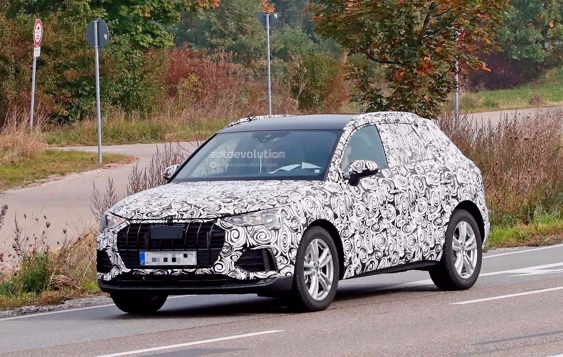 Spyshots: 2019 Audi Q3 Borrows Grille and Headlights from e-tron quattro Concept - autoevolution