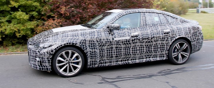 Spy Photos: 2022 BMW i4 M Performance Looks Like an Electric 4 Series Gran Coupe - autoevolution