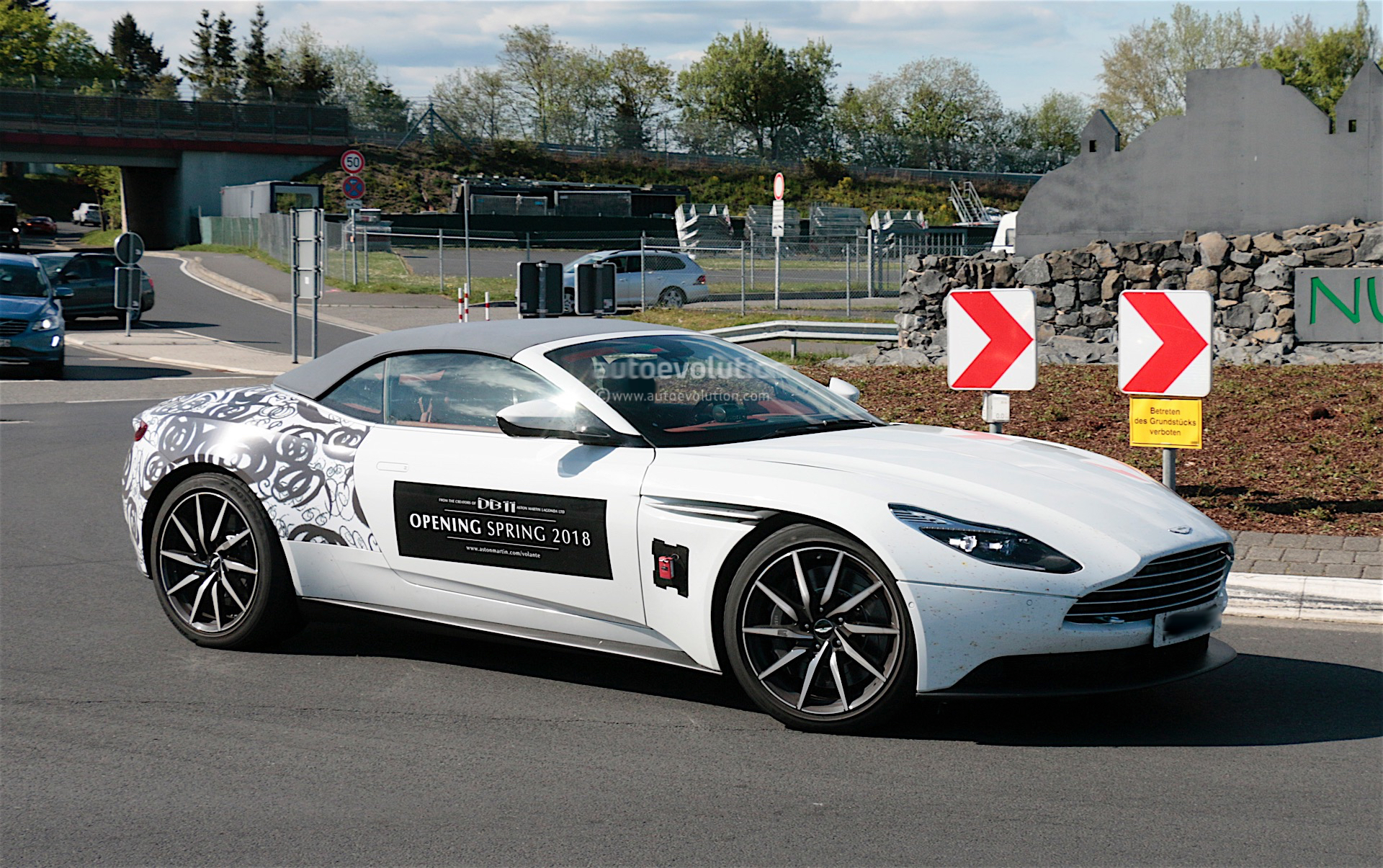 Aston Martin DB Volante Spied Without Camouflage Reaches Dealers - Aston martin dealers