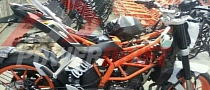 Spy Shots of KTM 390 Duke Production Line