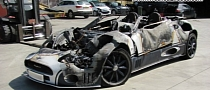 Spyker C8 Catches Fire