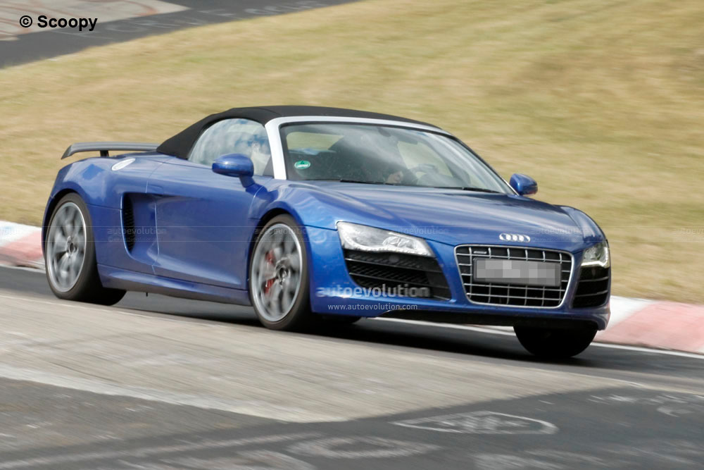 spyshots 2012 audi r8 gt spyder autoevolution. Black Bedroom Furniture Sets. Home Design Ideas