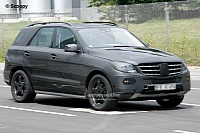 Mercedes-Benz ML spyshots