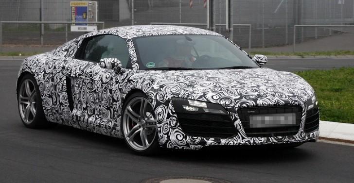 Spyshots 2013 Audi R8 Facelift Drops Camo Autoevolution