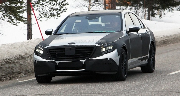 Spyshots: 2013 Mercedes-Benz S-Class Loses Some Camo