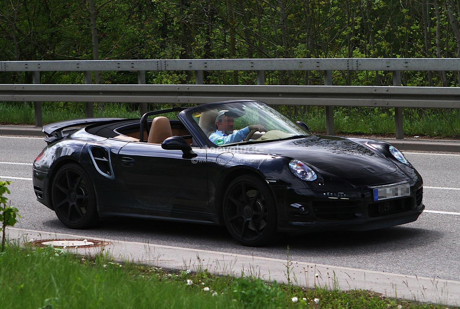 spyshots 2013 porsche 911 turbo cabriolet autoevolution. Black Bedroom Furniture Sets. Home Design Ideas