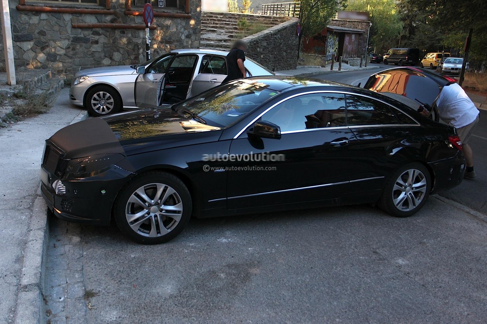 Spyshots 2014 mercedes e class coupe facelift with less camo autoevolution - Mercedes e class coupe 2014 ...