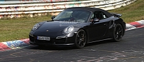 Spyshots: 2014 Porsche 911 Turbo Cabriolet Laps the Nurburgring
