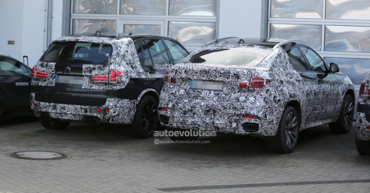 Spyshots: 2015 BMW F16 X6 Spied Next to 2014 X5