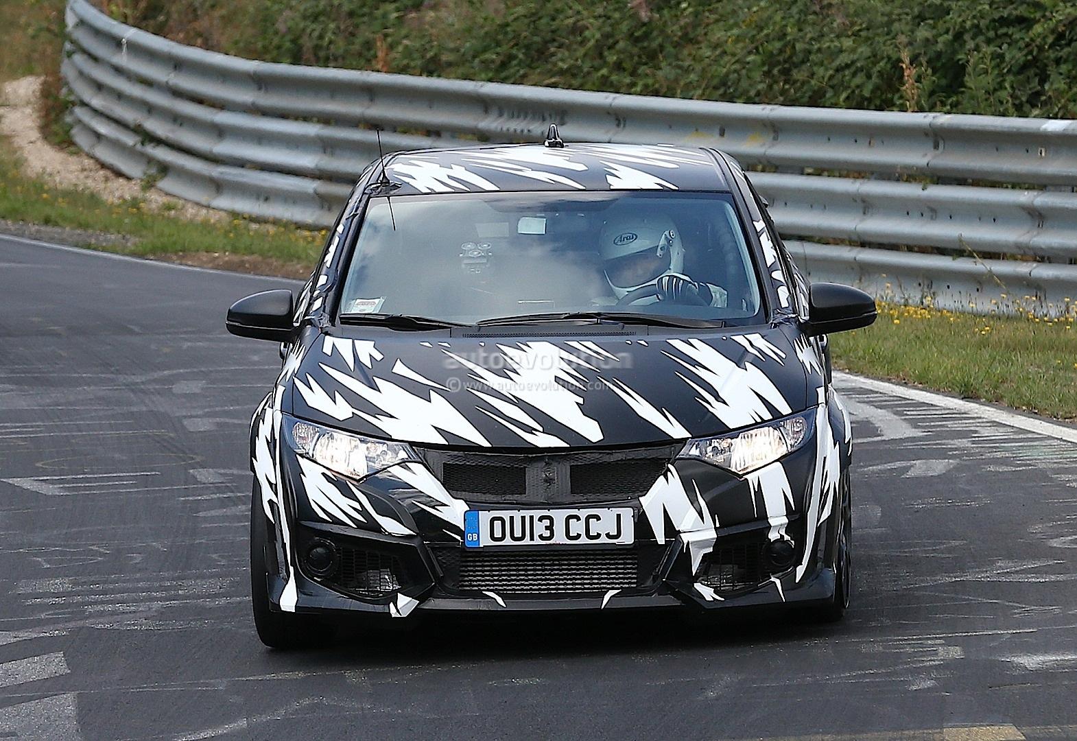 spyshots 2015 honda civic type r nurburgring testing autoevolution. Black Bedroom Furniture Sets. Home Design Ideas