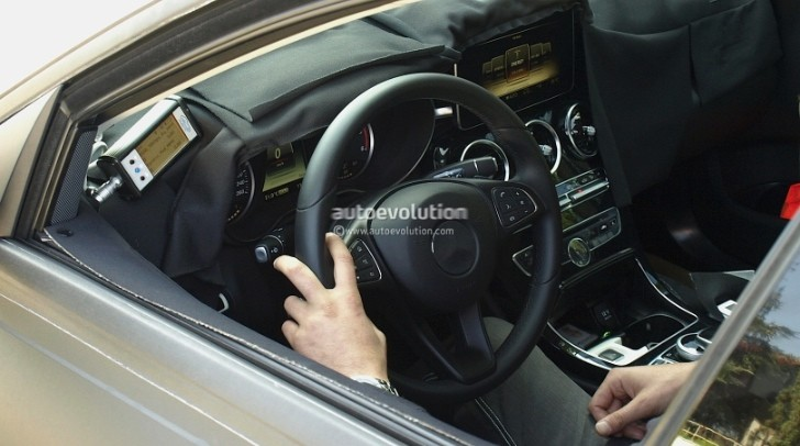 Spyshots 2015 Mercedes Benz C Class Interior Revealed Autoevolution