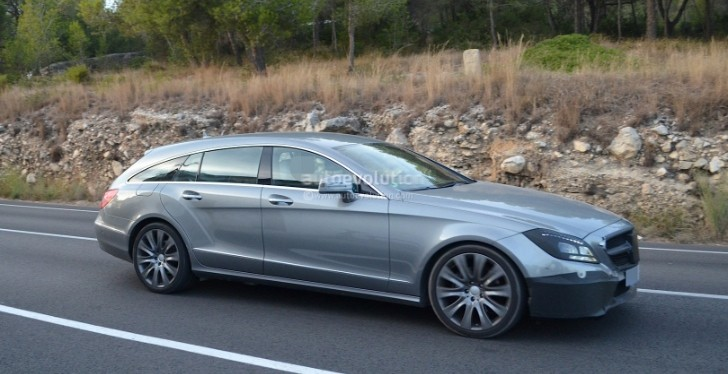 Spyshots: 2015 Mercedes CLS Shooting Brake Facelift Gets New Grille and Bumper
