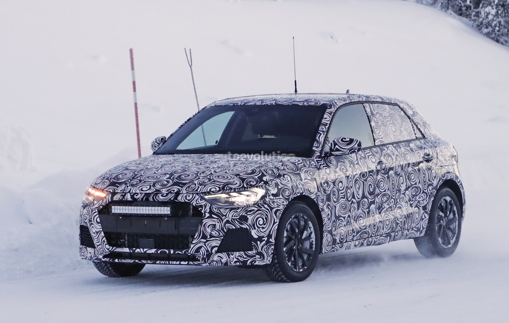 Spyshots 2019 Audi A1 Caught Testing In The Snow 250 Hp