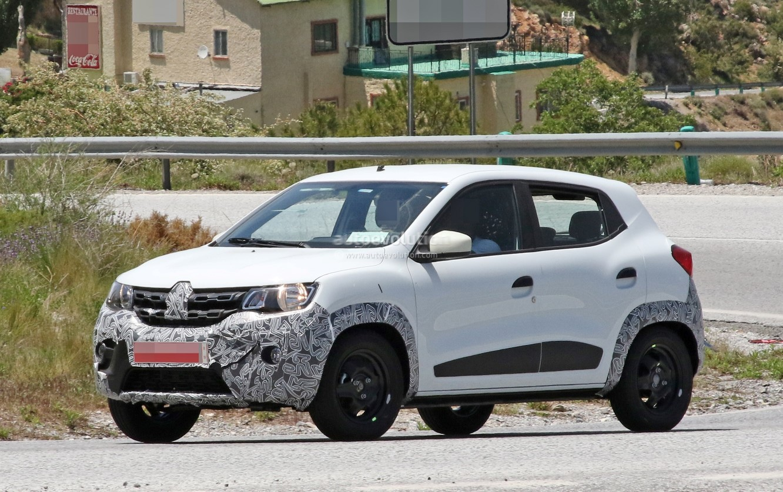 Spyshots 2019 Renault Kwid Facelift Caught Testing In Europe