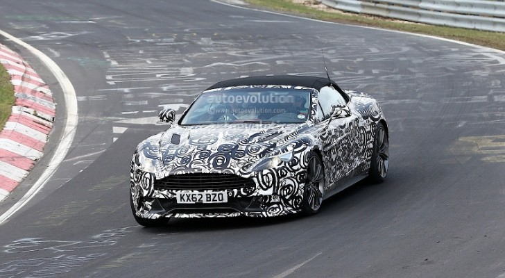 Spyshots: Aston Martin Vanquish Volante at the Nurburgring