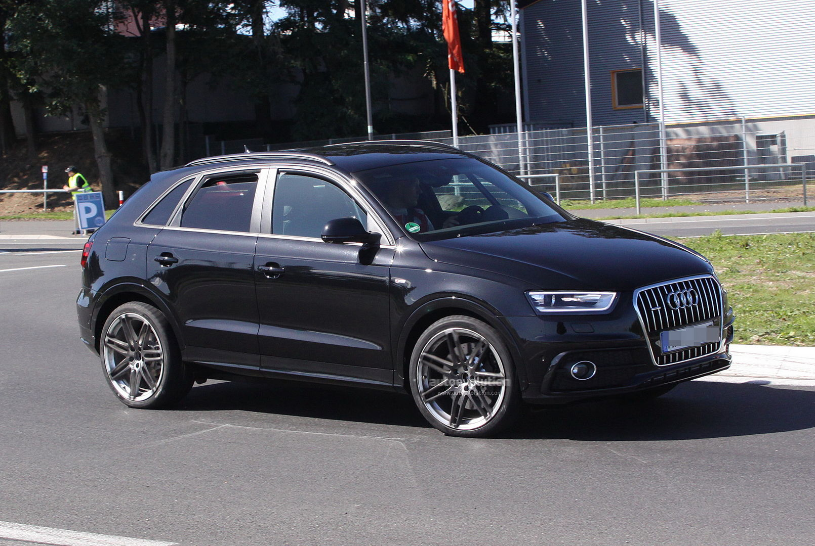 spyshots audi q3 s on the nurburgring autoevolution. Black Bedroom Furniture Sets. Home Design Ideas