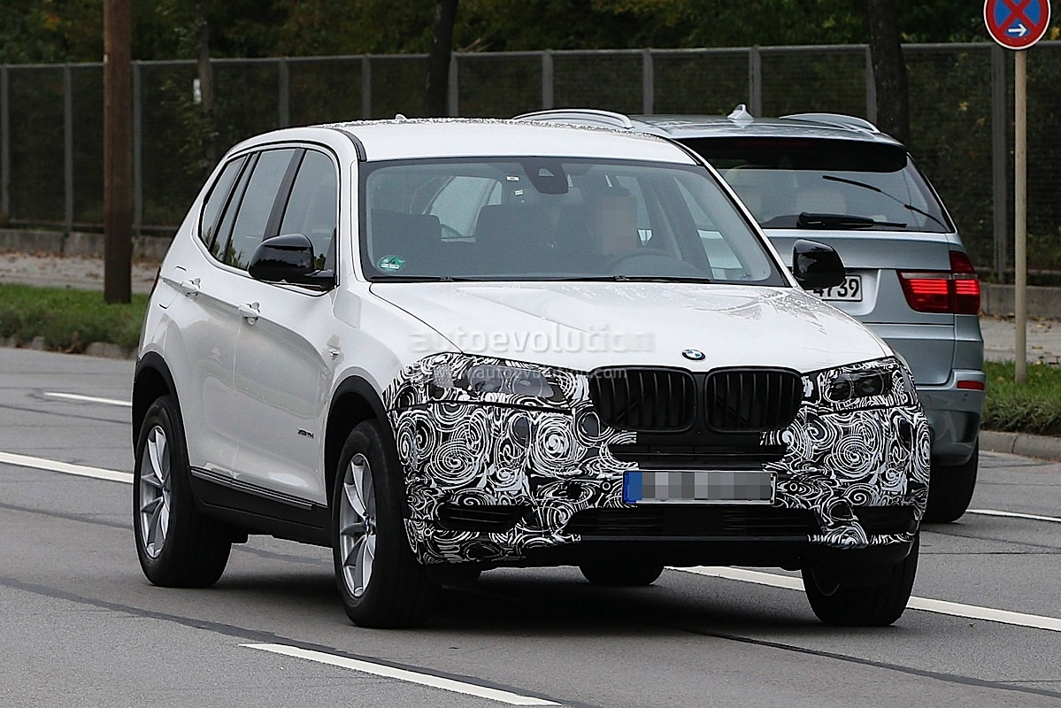 spyshots bmw f25 x3 facelift lci first photos. Black Bedroom Furniture Sets. Home Design Ideas