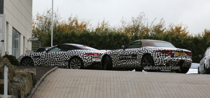 Spyshots: Jaguar F-Type Coupe Spotted Next to Convertible