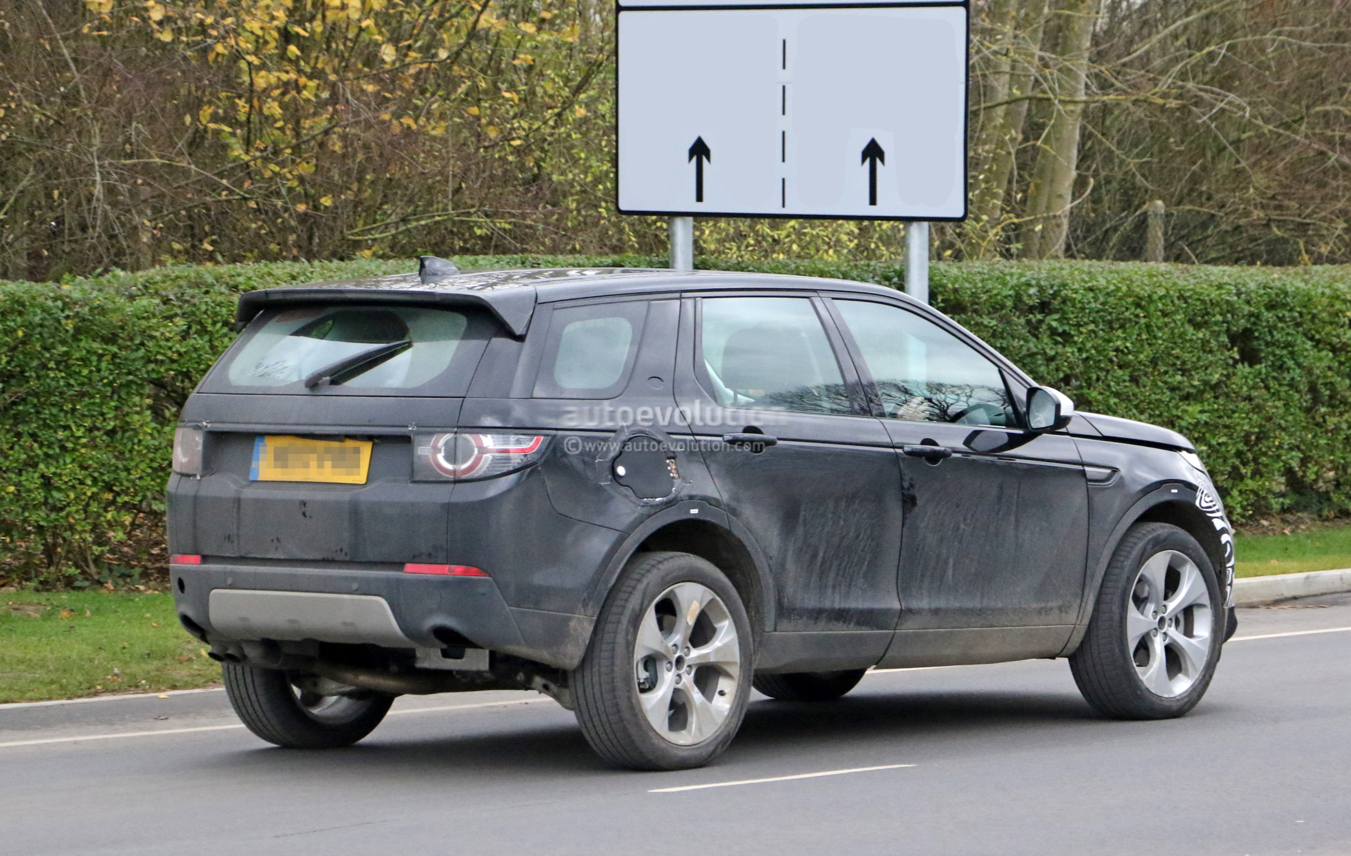 Spyshots: 2019 Land Rover Discovery Sport Has Makeshift Fuel Filler ...