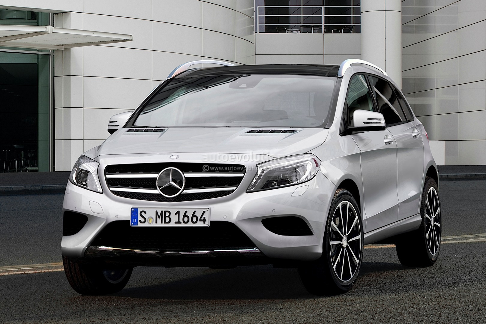 spyshots mercedes gla crossover with rendering autoevolution. Black Bedroom Furniture Sets. Home Design Ideas