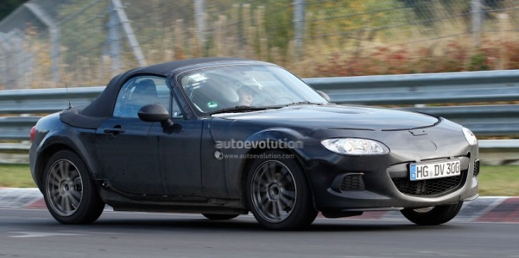 Spyshots: New Mazda MX-5 / Alfa Spider Test Mule Spotted at the Nurburgring