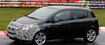 Spyshots: Opel Corsa Facelift at the Nurburgring