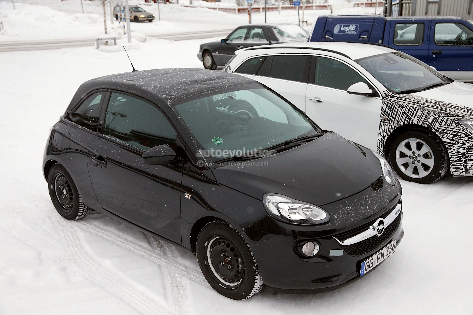 spyshots opel vauxhall adam cabrio winter testing. Black Bedroom Furniture Sets. Home Design Ideas