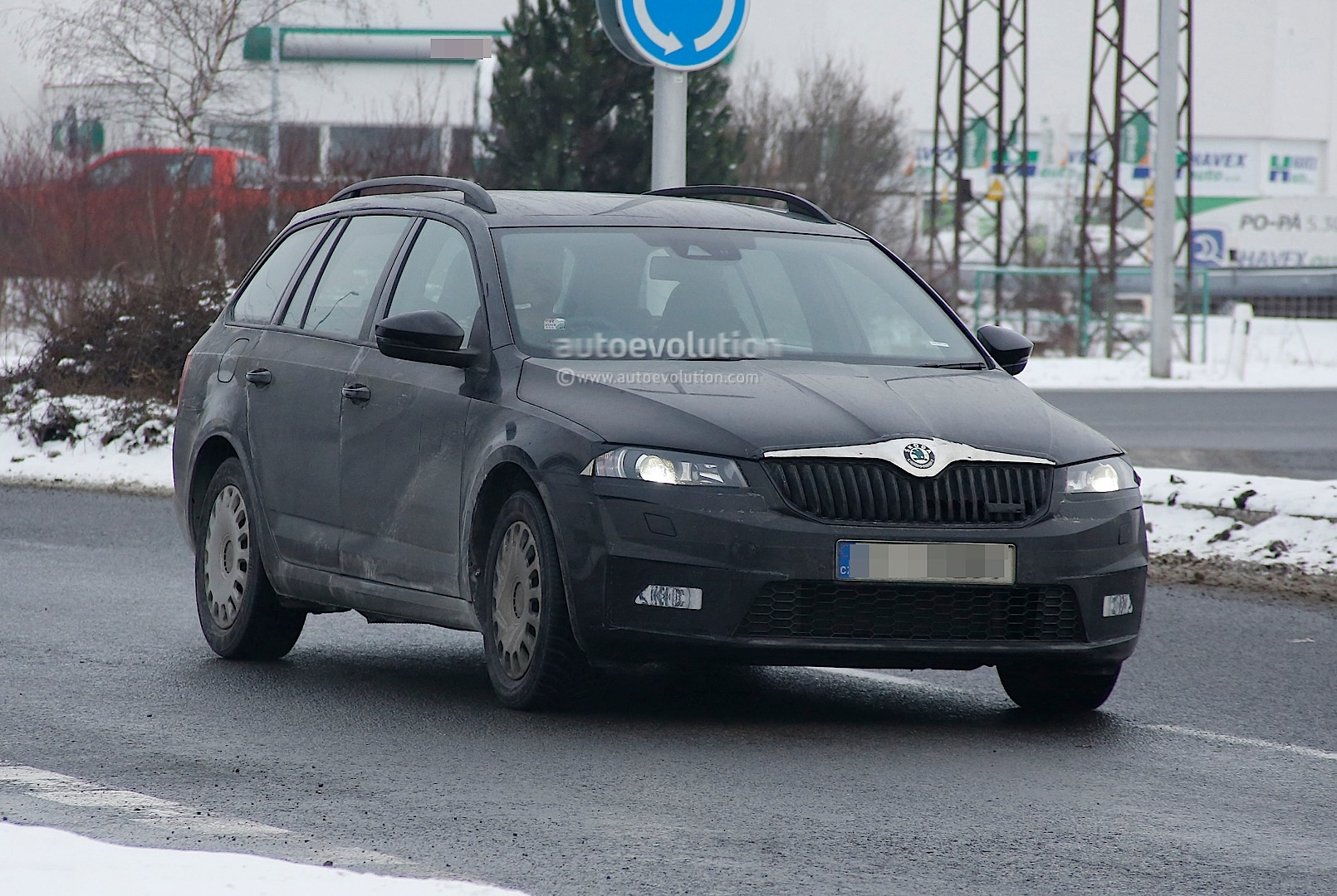 spyshots skoda octavia iii combi rs autoevolution. Black Bedroom Furniture Sets. Home Design Ideas