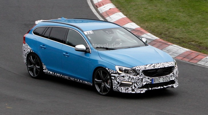 Spyshots: Volvo V60 Polestar Being Tested on Nurburgring [Photo Gallery]