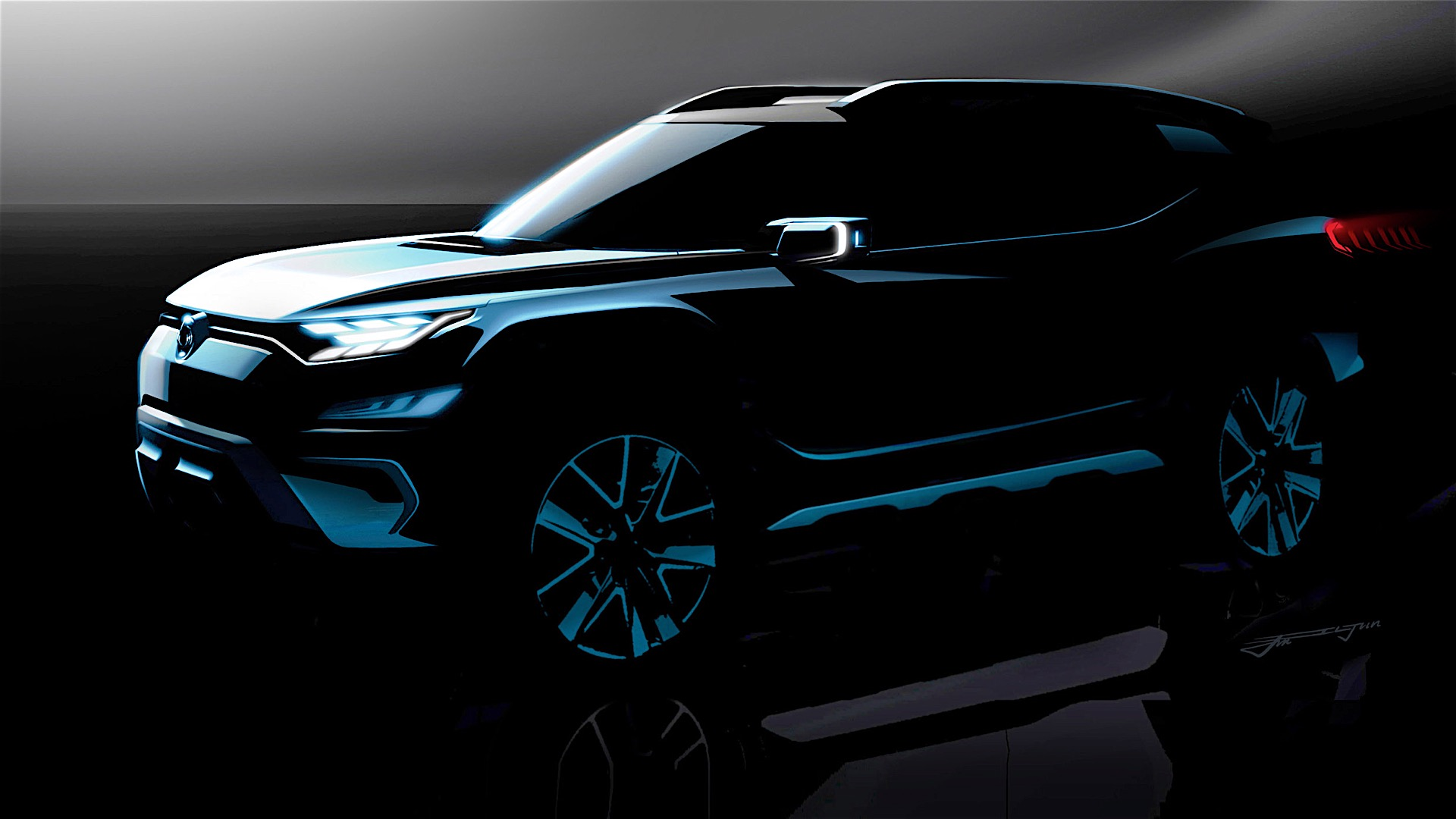 SsangYong XAVL concept SUV teased, Geneva debut
