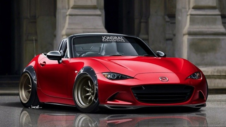stanced 2015 mazda mx 5 miata rendering love at first sight autoevolution. Black Bedroom Furniture Sets. Home Design Ideas