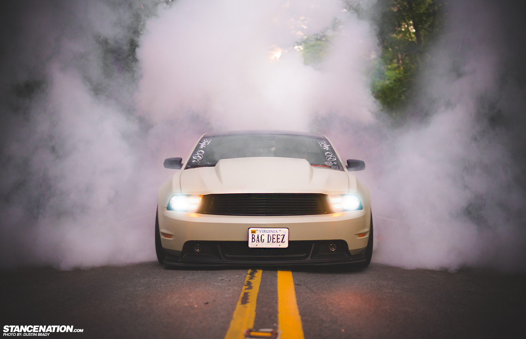 Stanced 755 HP Ford Mustang Looks Cool