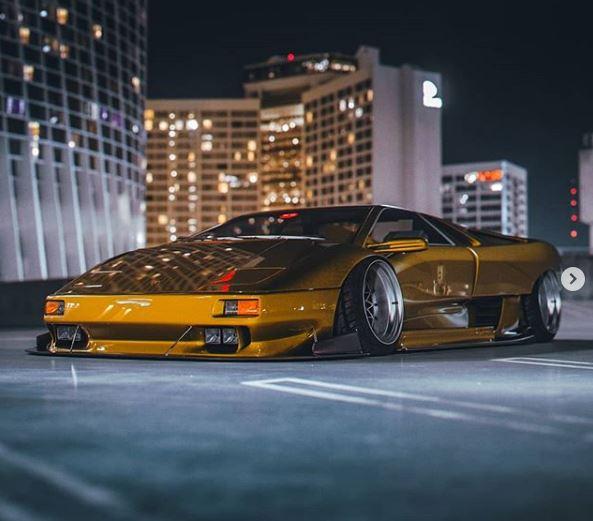 Stanced Lamborghini Diablo Rendered With Widebody Kit Looks Savage