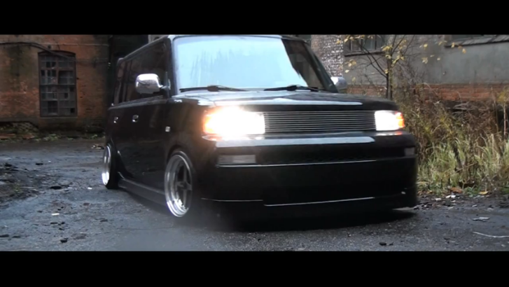 Stanced Scion xB Rides on Work Equips [Video]